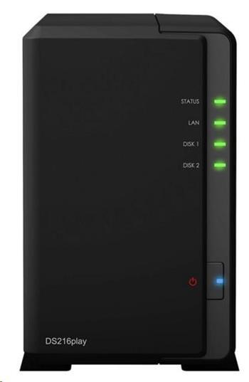 Synology DS218play DiskStation (4C/RealtekRTD1296/1,4GHz/1GBRAM/2xSATA/2xUSB3.0/1xGbE)