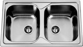 Sinks OKIOPLUS 800 DUO V 0,7mm leštěný