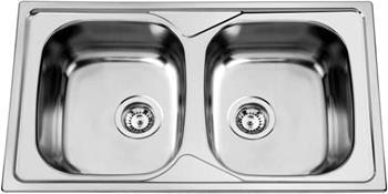 Sinks OKIOPLUS 860 DUO V 0,7mm leštěný