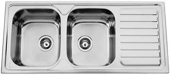 Sinks OKIOPLUS 1160 DUO V 0,7mm leštěný