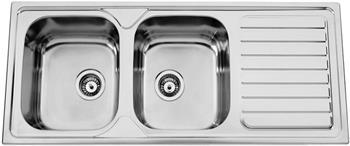 Sinks OKIOPLUS 1200 DUO V 0,7mm leštěný