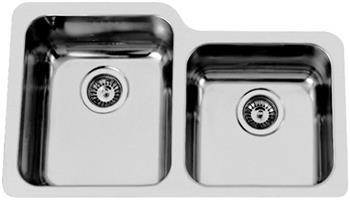 Sinks DUO 755 V 1,0mm pravý leštěný