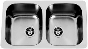 Sinks DUO 765 V 1,0mm leštěný