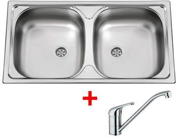 Sinks OKIO 780 DUO M 0,5mm matný + Sinks VENTO 4 lesklá