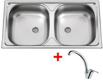 Sinks OKIO 780 DUO M 0,5mm matný + Sinks VENTO 55 lesklá