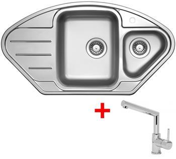Sinks LOTUS 945.1 V 0,8mm leštěný + Sinks MIX 350 P lesklá