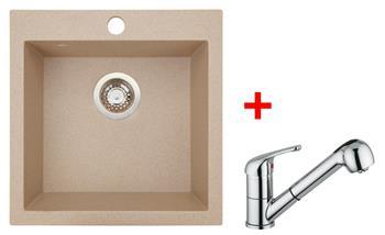 Sinks VIVA 455 Beige + Sinks VENTO 4 S lesklá