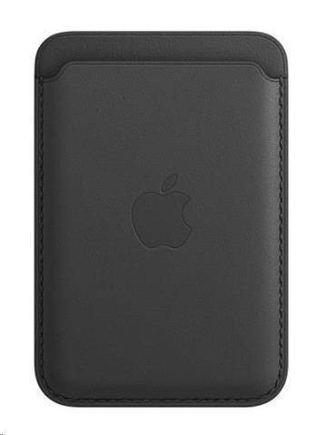 Apple iPhone kožená peněženka s MagSafe - Black