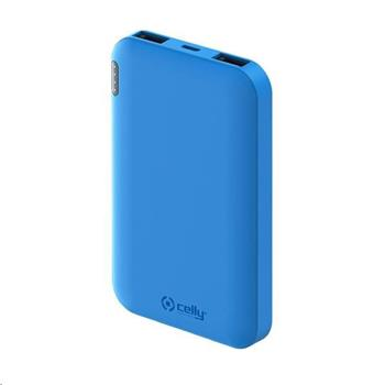 Celly powerbanka Energy, 5000 mAh, 2x USB, modrá