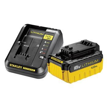 Stanley 1 x akumulátor 18 V 4.0Ah + nabíječka 2A
