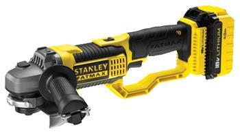Stanley Aku úhlová bruska 125 mm 18 V, 2 x 4.0Ah