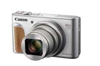 Canon PowerShot SX740 HS, 20.3Mpix, 40x zoom, WiFi, 4K video - stříbrný