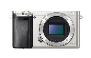 SONY Alfa 6000 fotoaparát, 24.3 MPix - tělo - stříbrné