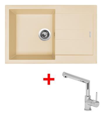 Sinks AMANDA 780 Sahara + Sinks MIX 350 P lesklá