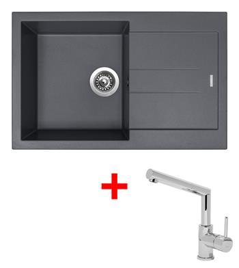 Sinks AMANDA 780 Titanium + Sinks MIX 350 P lesklá