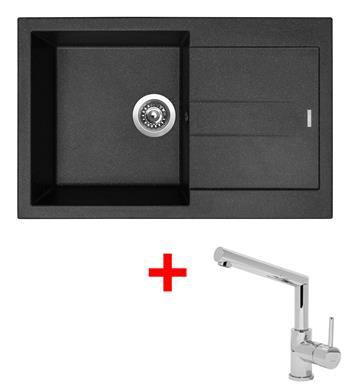 Sinks AMANDA 780 Granblack + Sinks MIX 350 P lesklá