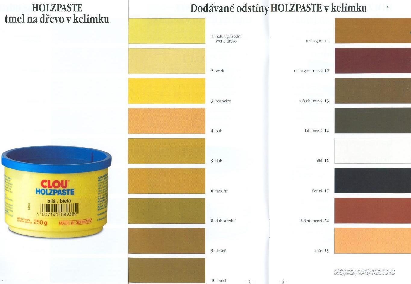 tmel clou holzpaste bílý 250 g   exkalibr.cz